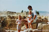 <p>With sister Pippa and father Michael in Jerash, Jordan, where the Middleton family lived for two and a half years. </p>