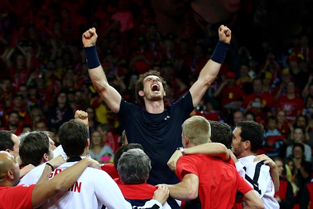 <p>Davis Cup glory: Murray's 2015 was capped by helping Great Britain win the Davis Cup for the first time since 1936. (Getty Images) </p>