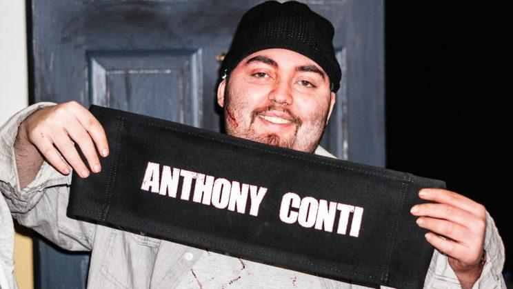 Anthony Conti on the set of his film,
