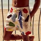 """<p>arrelsbarcelona.com</p><p><strong>125.00</strong></p><p><a href=""""https://www.arrelsbarcelona.com/product/white-shapes-x-julie-safirstein-classic-swim-shorts-n0485793-c/"""" rel=""""nofollow noopener"""" target=""""_blank"""" data-ylk=""""slk:Shop Now"""" class=""""link rapid-noclick-resp"""">Shop Now</a></p><p>""""Need a new swimsuit for the holiday? The Barcelona-based brand Arrels makes its designs from upcycled plastic bottles found in the Mediterranean. Proceeds from each item sold goes to the Surfrider Foundation Europe. These are not just feel-good shorts, though—its colorful, upbeat pattern, design by the French artist Julie Safirstein are likely to stand out anywhere in the region, from the crowded La Barceloneta to the thot-y beaches of Sitges.""""—<em>Erik Maza, Style Features Director</em></p>"""
