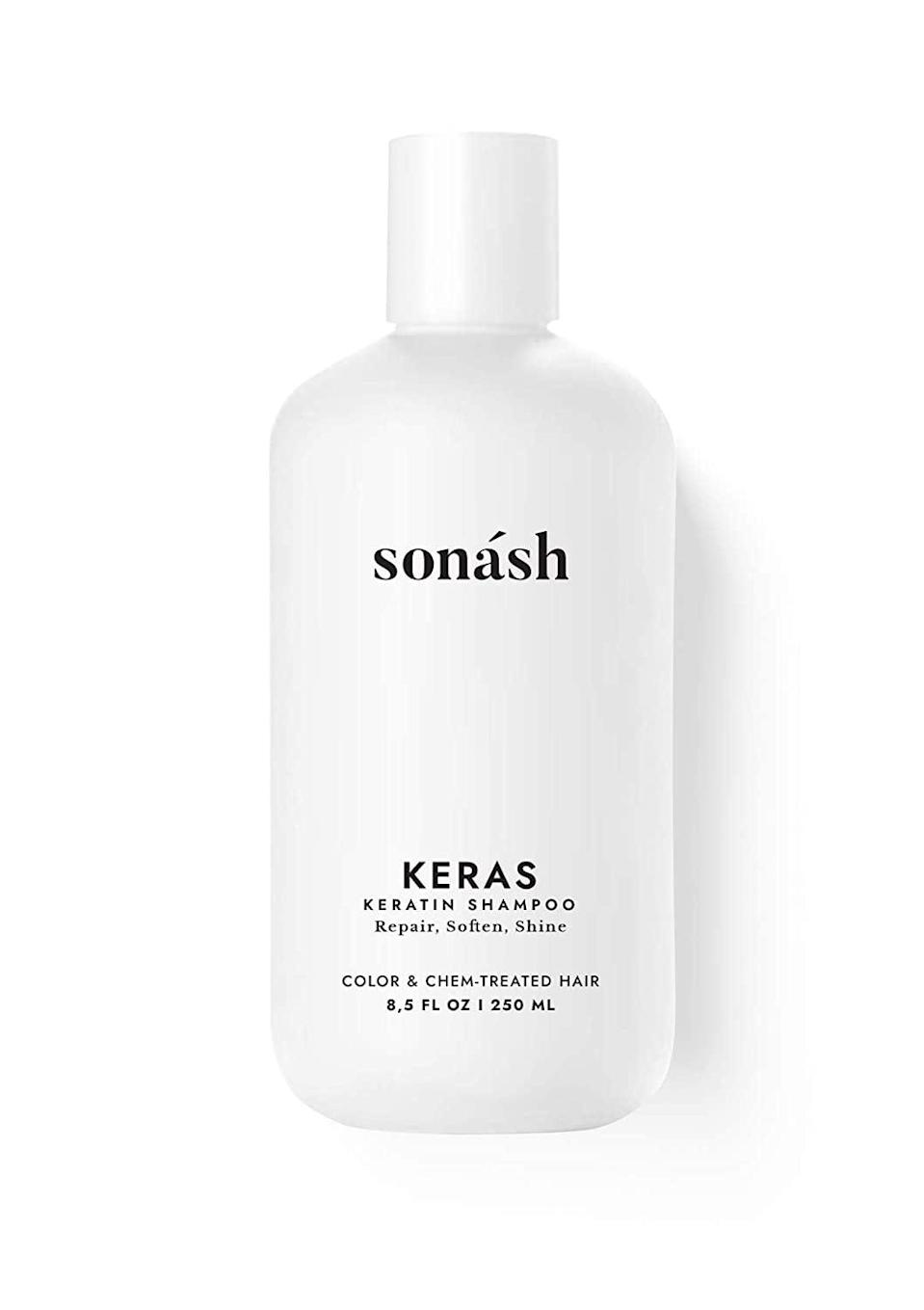 <p>Add some moisture and protein to your hair care with the <span>Sonash Keras Moisturizing Keratin Shampoo</span> ($13).</p>