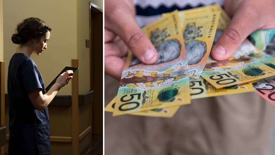 Aged care workers will soon be eligible for $3,700 bonus payments. (images: Getty).