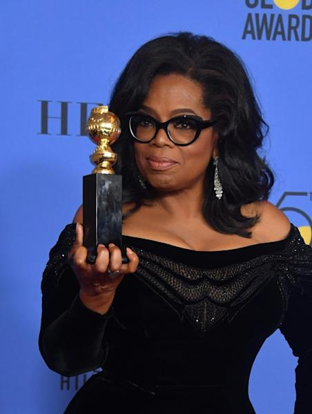Actress and TV talk show host Oprah Winfrey offered a stirring speech at the Golden Globes in January 2018 as she accepted a lifetime achievement award