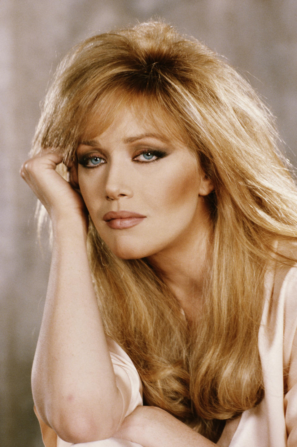 American actress Tanya Roberts stars as Stacey Sutton in the James Bond film 'A View To A Kill', 1984. (Photo by Keith Hamshere/Getty Images)