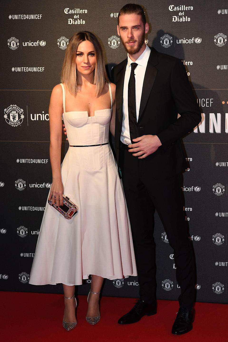 <p>David De Gea's girlfriend Edurne Garcia is just as successful as her footballing boyfriend, having released numerous chart-topping singles in Spain, as well as representing them at Eurovision in 2015. </p>