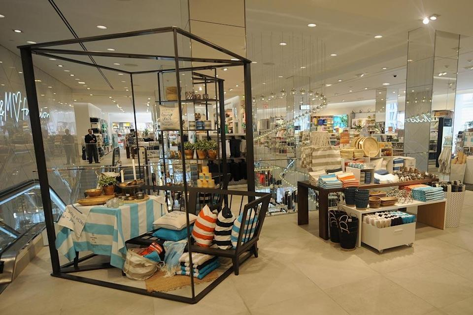 The H&M Herald Square flagship features everything from homegoods to cosmetics - Credit: H&M