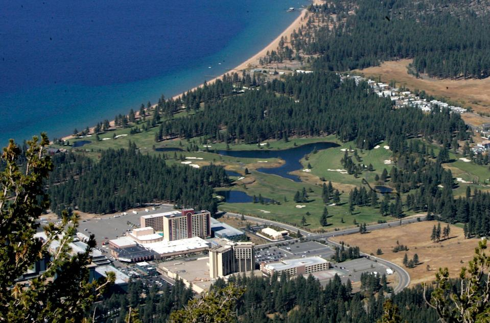 The Edgewood Tahoe Golf Course is shown in the center.