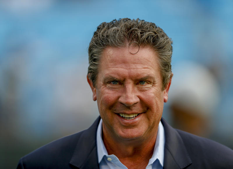 Dan Marino put his old-man hat on to talk about today's NFL rules. But he has a point. (AP Photo/Nell Redmond