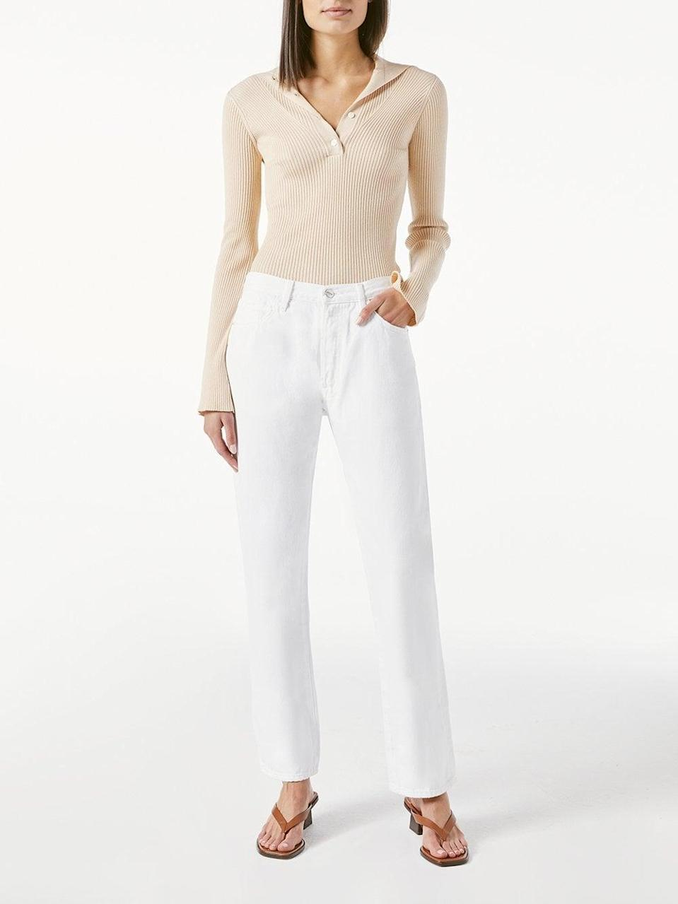 """<p>""""As a denim company, Frame is doing its part to reduce water consumption and the brand's environmental impact through its processes. The <span>Le Slouch Rumpled Blanc Grind Jeans</span> ($248) in particular are sustainable and made with recycled cotton. The slouchy fit means these will be lived in and cool forever when it comes to my wardrobe, full of movable, loose-fit jeans that look great with crop tops and slides in the spring and summer."""" - SW</p>"""