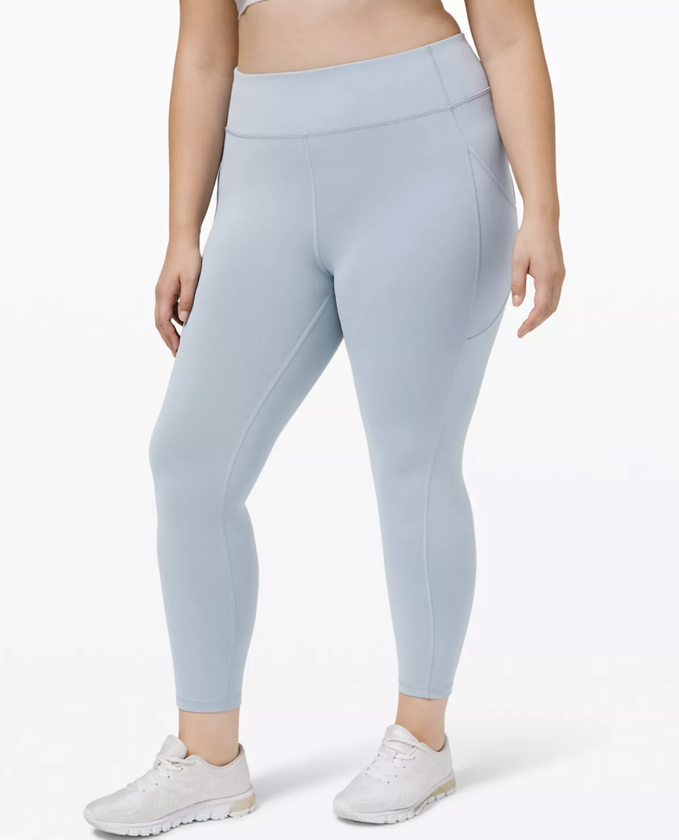 """<p><strong>Lululemon</strong></p><p>lululemon.com</p><p><a href=""""https://go.redirectingat.com?id=74968X1596630&url=https%3A%2F%2Fshop.lululemon.com%2Fp%2Fwomens-leggings%2FInvigorate-HR-Tight-25-MD%2F_%2Fprod9890061&sref=https%3A%2F%2Fwww.seventeen.com%2Ffashion%2Fg30519407%2Fdoes-lululemon-have-sales%2F"""" rel=""""nofollow noopener"""" target=""""_blank"""" data-ylk=""""slk:Shop Now"""" class=""""link rapid-noclick-resp"""">Shop Now</a></p><p><strong><del>$128</del> $79 (38% off)</strong></p><p>Users report that """"the material is super soft like the Aligns, but it's more durable,"""" making them the perfect legging for workouts – and they're $49 off. </p>"""