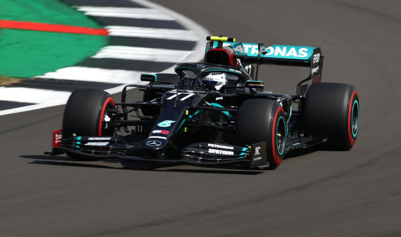 Bottas leads Hamilton in final British GP practice