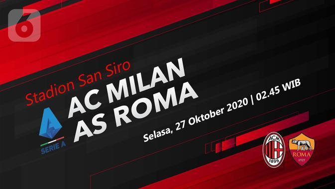 Dapatkan Link Live Streaming Liga Italia AC Milan vs AS Roma di Vidio