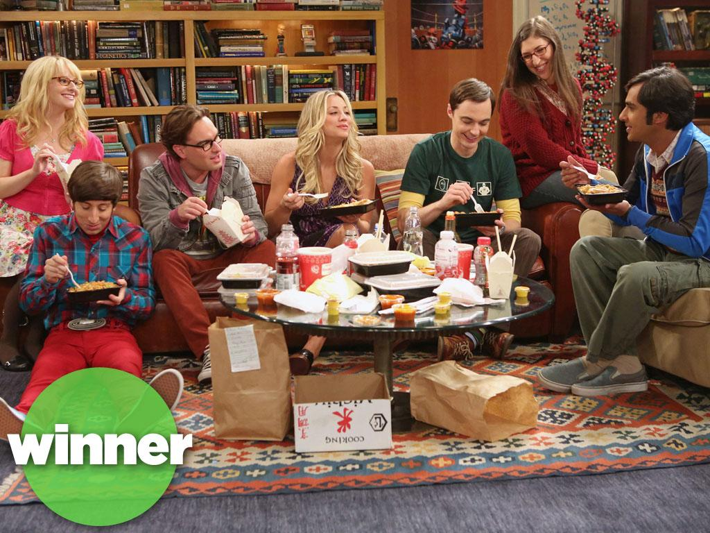 """<b>WINNER: """"The Big Bang Theory"""" (CBS) </b><br><br>Revenge of the nerds! Now in its sixth season, CBS's geektastic sitcom has methodically built up a massive audience, and now stands as TV's top-rated comedy, beating out last season's champ """"Modern Family."""" Combining old-school laughs with a massive influx of sci-fi-friendly guest stars (Leonard Nimoy! Stephen Hawking!) has turned out to be a successful equation for """"Big Bang."""" And if our calculations are correct, we're 99.99% certain that Sheldon and Leonard will have plenty more seasons to argue over that roommate agreement of theirs."""