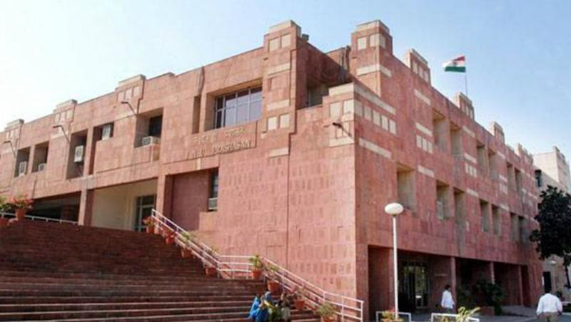 JNU Students Take Out Rally for Ram Mandir in Ayodhya