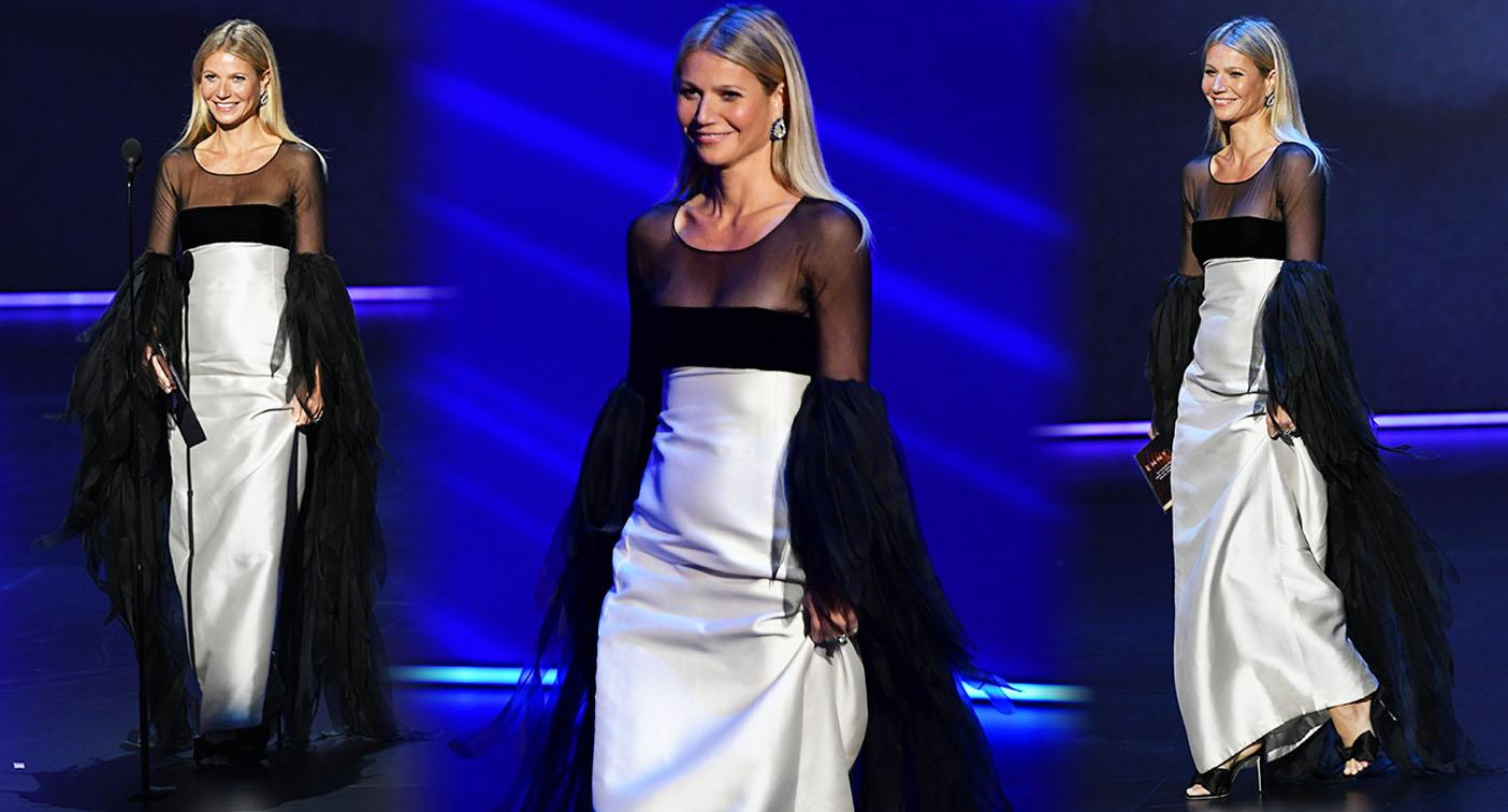 Gwyneth Paltrow: The actor shuffled awkwardly across the stage