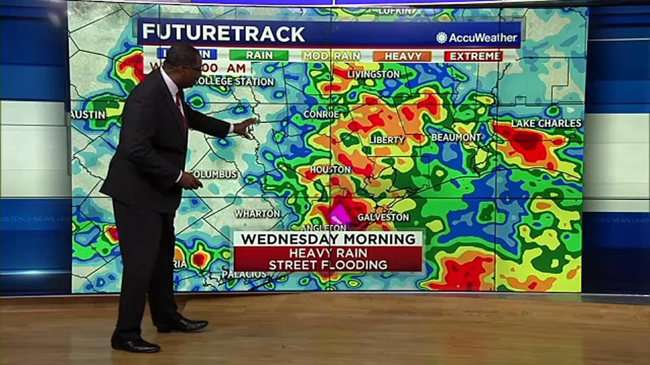 Houston Weather: Widespread street flooding likely Wednesday morning