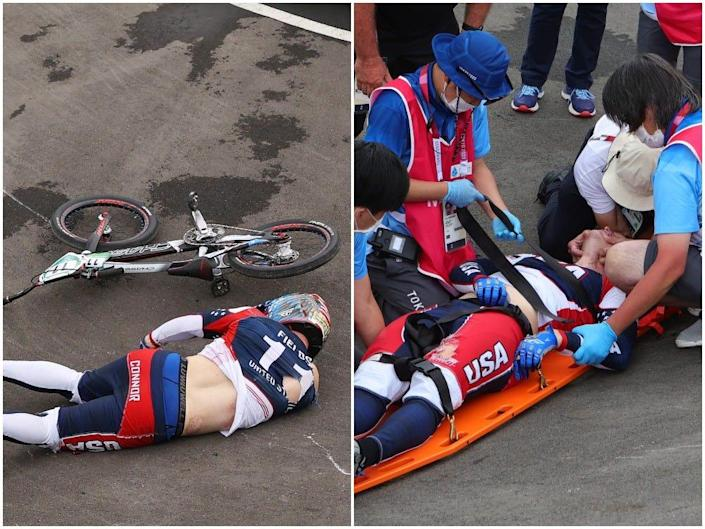 Connor Fields crashed at his bike at the 2020 Olympic Games, suffered an injury, but is now out of critical care.