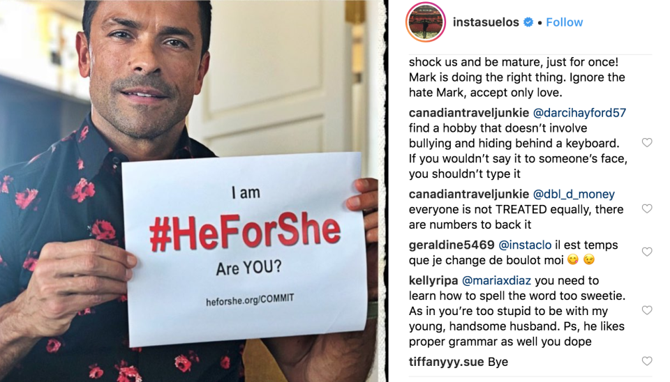 Ripa put an age-shaming troll in her place. (Photo: Mark Consuelos via Instagram)