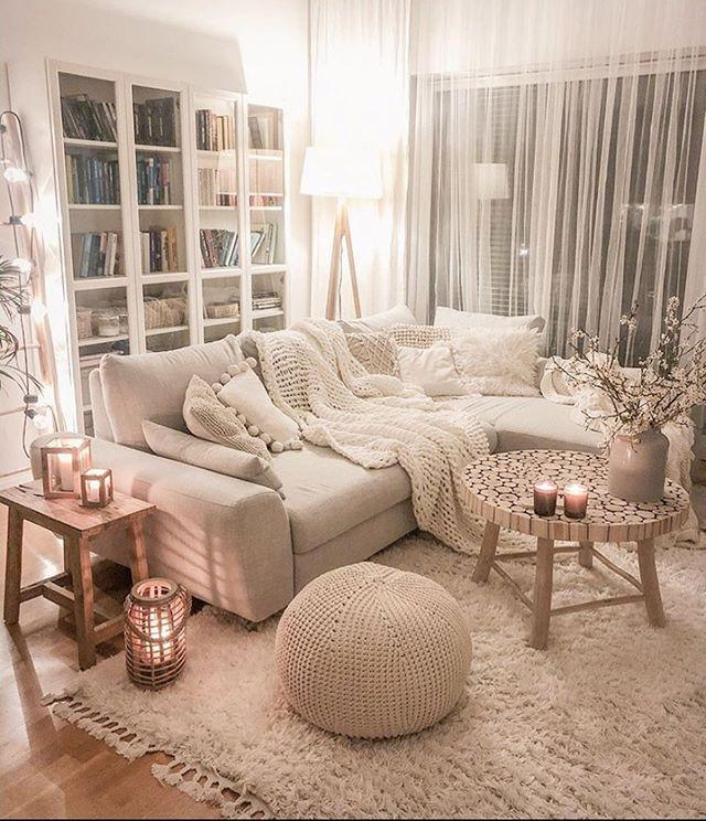 "<p>In classic white, this soft cosy living room space looks incredibly inviting. </p><p><a href=""https://www.instagram.com/p/CFu41WWHoHe/"" rel=""nofollow noopener"" target=""_blank"" data-ylk=""slk:See the original post on Instagram"" class=""link rapid-noclick-resp"">See the original post on Instagram</a></p>"