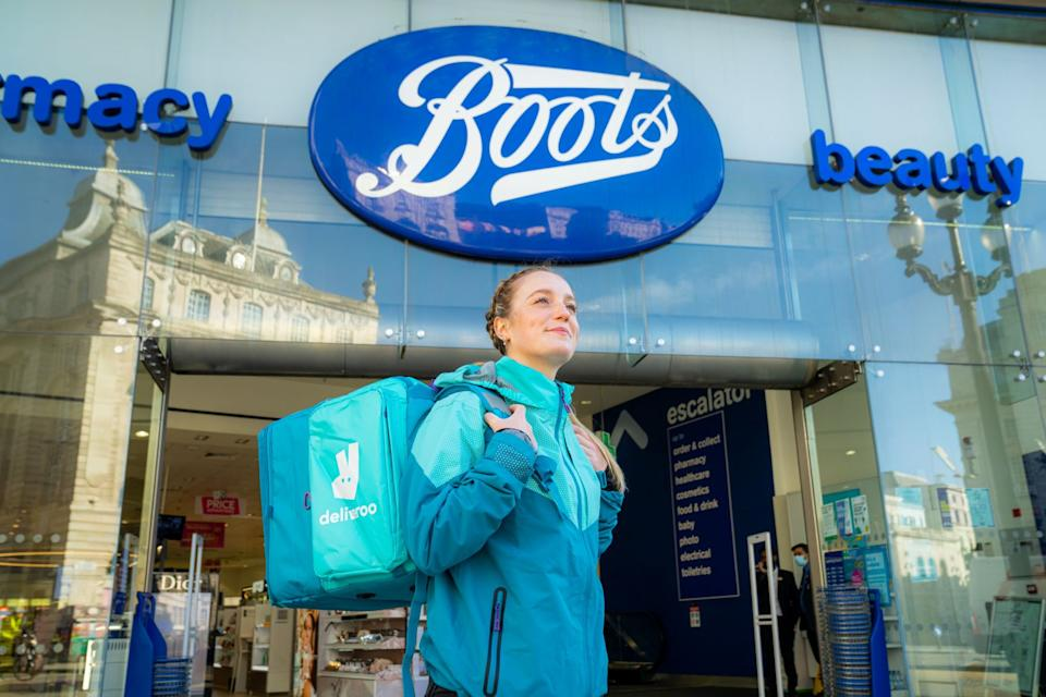 Deliveroo announced a partnership with Boots, with 400 products on offer. Photo: Boots/Deliveroo