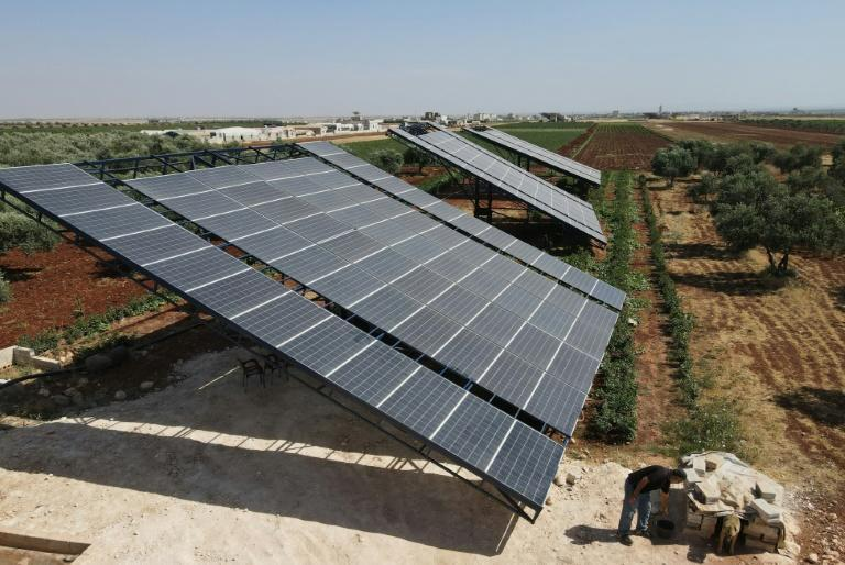 In rebel-held Syria, large solar panels have been installed to not only power homes but also for farmers, to pump water to irrigate fields