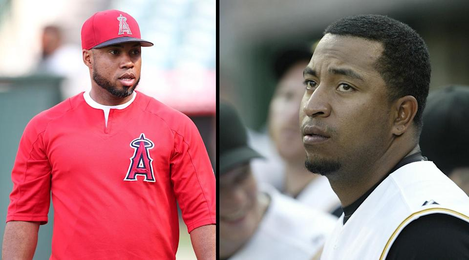 Luis Valbuena, left, and Jose Castillo have reportedly died in a car accident in Venezuela. (Getty Images)