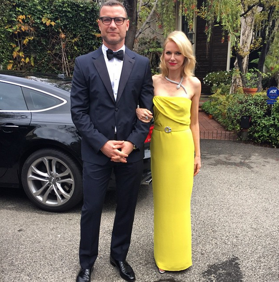 """Naomi Watts, in a yellow Gucci gown, took to Instagram to tell the world: """"Watch out, this couple means business."""" @_naomiwatts_/Instagram"""