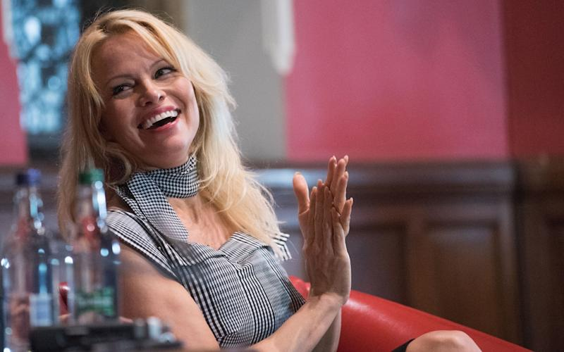 Pamela Anderson at the Oxford Union - Credit:  Oxford Union/REX/Shutterstock