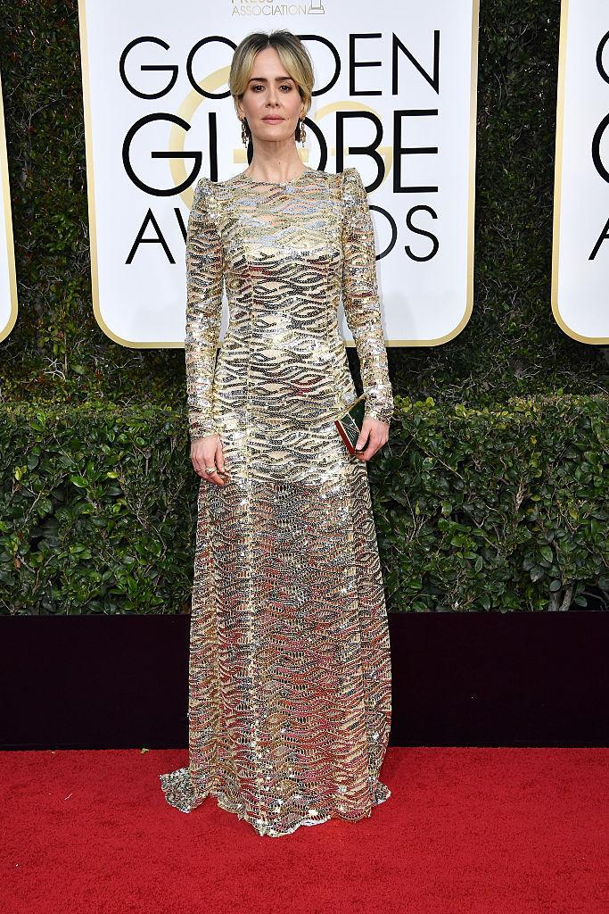 Sarah Paulson in Marc Jacobs. (Photo: Getty Images)