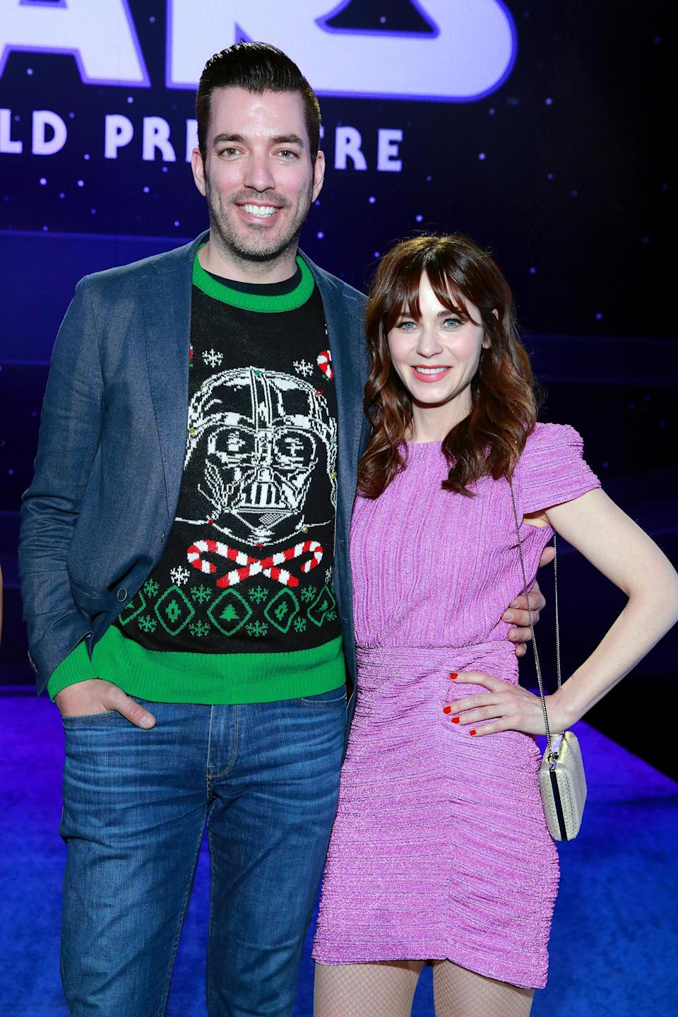 Jonathan Scott and Zooey Deschanel (Rich Fury / Getty Images)