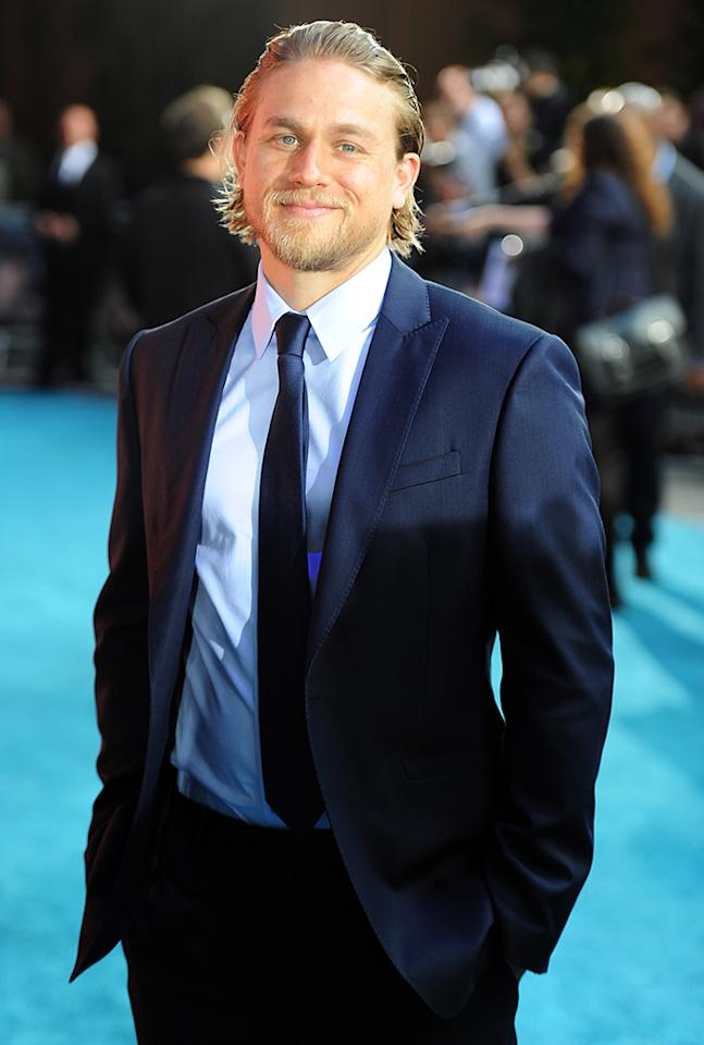 LONDON, ENGLAND - JULY 04:  (UK TABLOID NEWSPAPERS OUT) Charlie Hunnam attends the European premiere of 'Pacific Rim' at The BFI IMAX on July 4, 2013 in London, England.  (Photo by Dave Hogan/Getty Images)