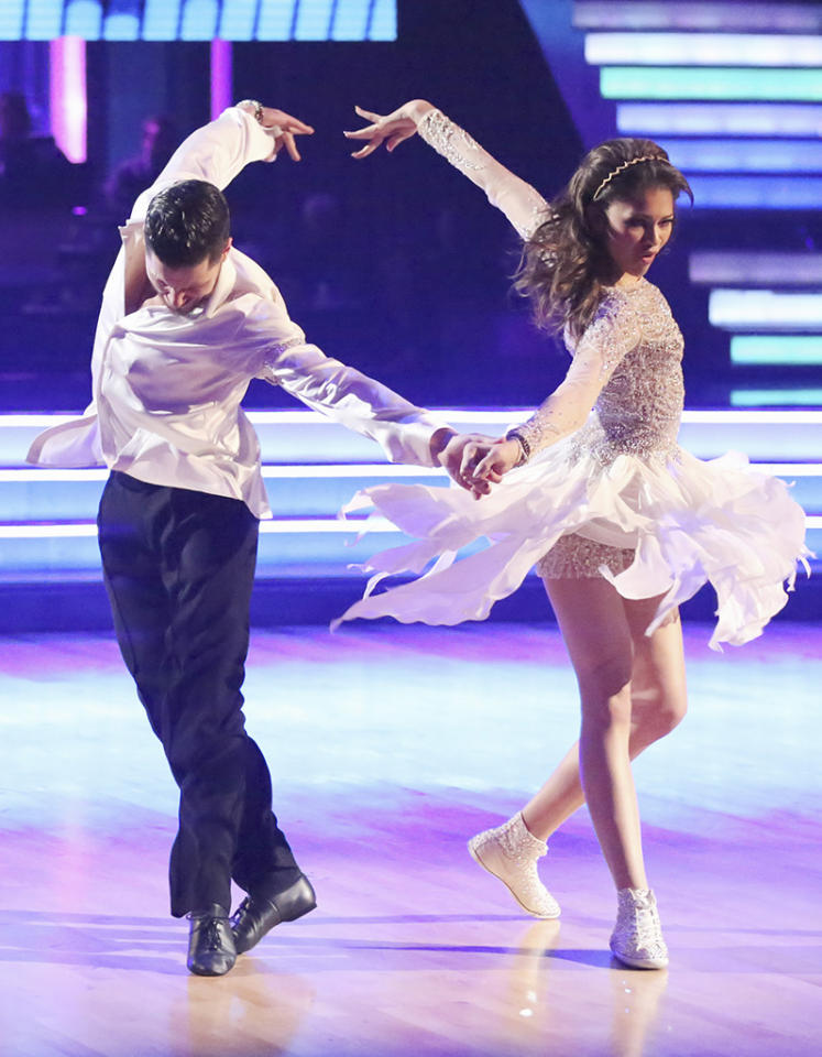 "Val Chmerkovskiy and Zendaya perform on ""Dancing With the Stars."""