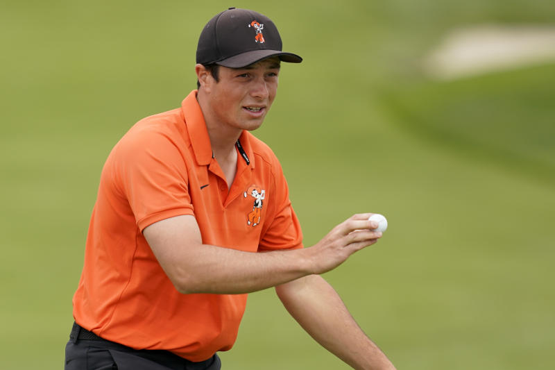 OSU's Viktor Hovland sets US Open amateur record
