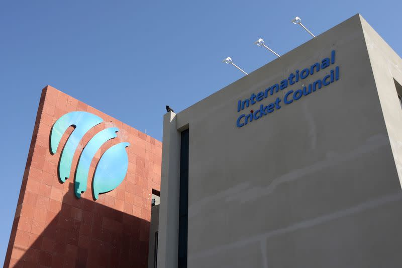 FILE PHOTO: The International Cricket Council ICC HQ is seen in Dubai