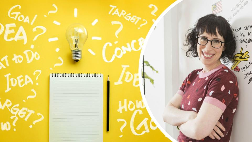 Amantha Imber has a great productivity tip. Images: Supplied, Getty