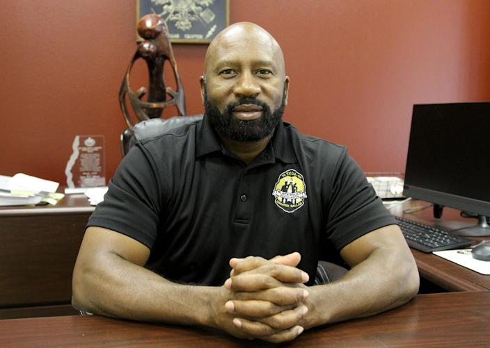 Terrance Hopkins, president of the Black Police Association of Greater Dallas, is worried about good guys with guns.
