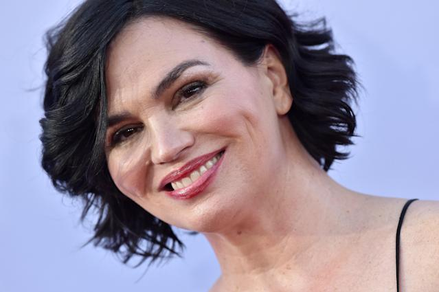 Karen Duffy arrives at the American Film Institute's Life Achievement Award tribute to George Clooney on June 7, 2018. (Photo by Axelle/Bauer-Griffin/FilmMagic)
