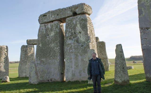 Mike Parker Pearson at Stonehenge