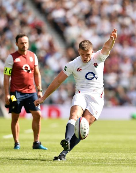 Centre Owen Farrell leads an England side desperate to erase the nightmare of their elimination before the quarter-finals in 2015