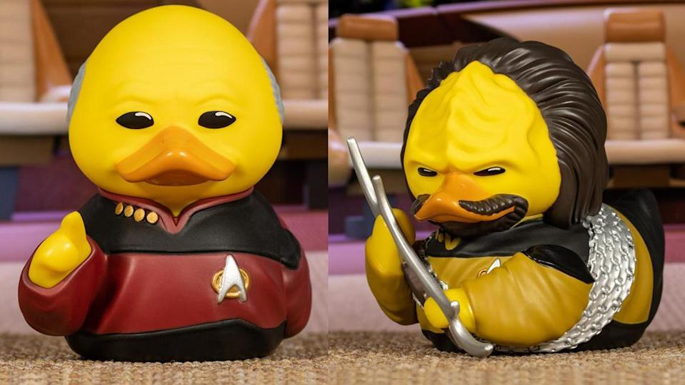 Captain Picard and Worf hit warp speed with these new Star Trek: The Next Generation rubber duckies.