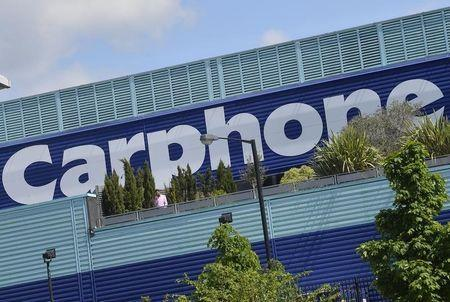 The headquarters of Carphone Warehouse is seen in west London