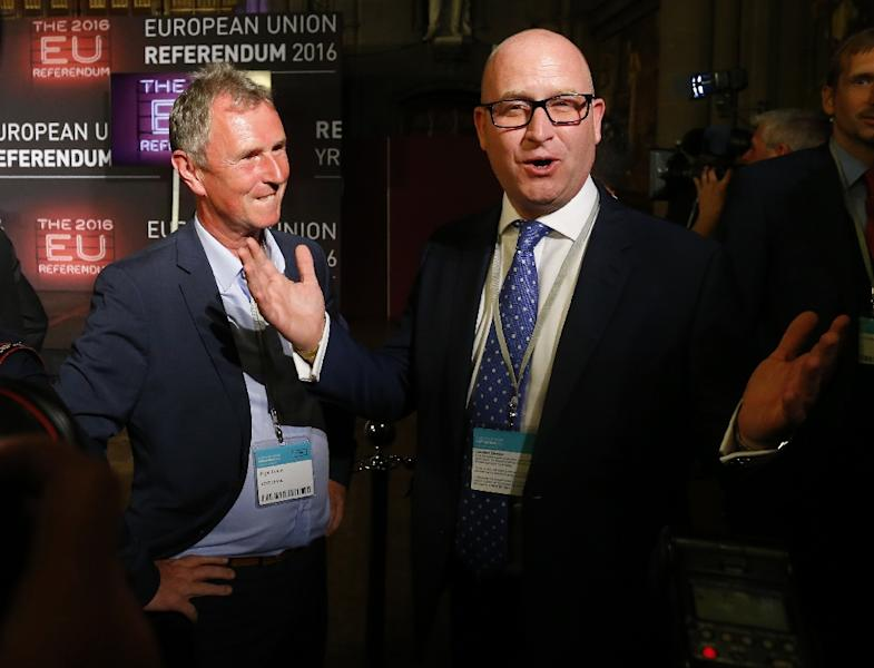 Paul Nuttall (right) is firm favourite to be UKIP's new leader (AFP Photo/Lindsey Parnaby)