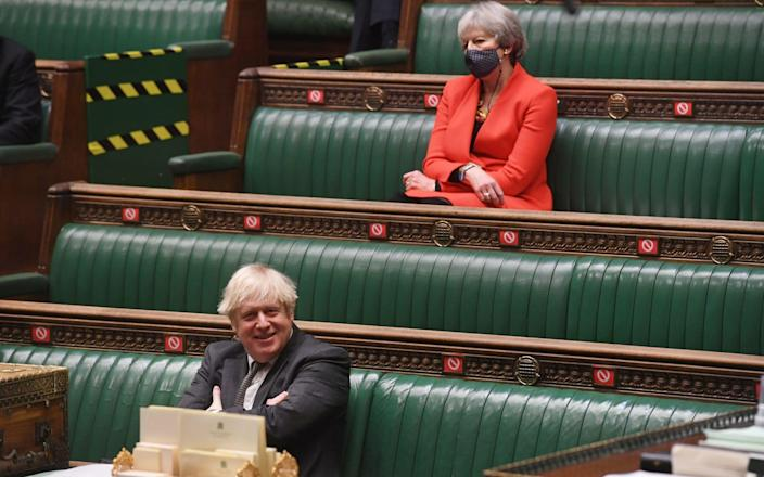 Boris Johnson and Theresa May in the Commons - UK Parliament/Jessica Taylor
