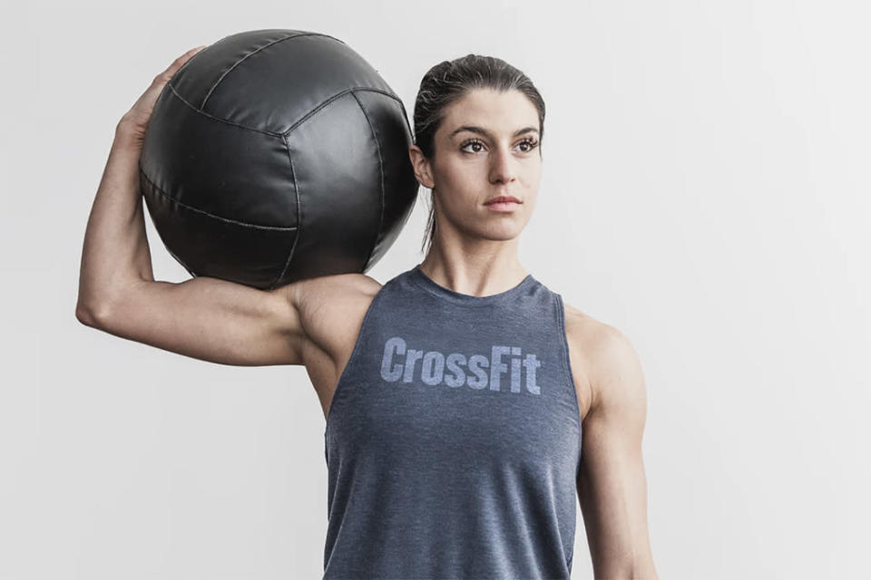A woman in the Nobull CrossFit high-neck tank. - Credit: Courtesy of Nobull