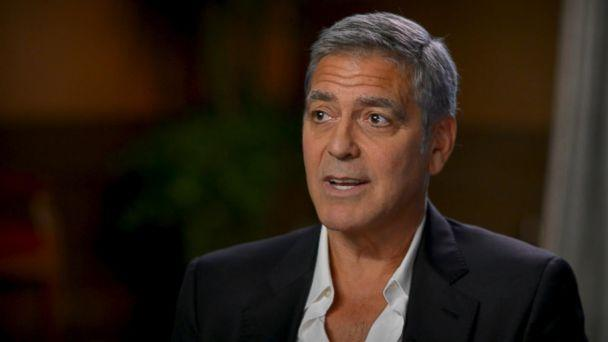 PHOTO: George Clooney responds to the Harvey Weinstein scandal that is rocking Hollywood in an interview with ABC News' Michael Strahan. (ABC News)