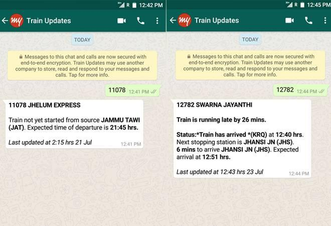 In a bid to enhance its services, the Indian Railways has partnered with  MakeMyTrip to provide live status updates of trains through WhatsApp,  which is currently the most popular instant messaging platform.