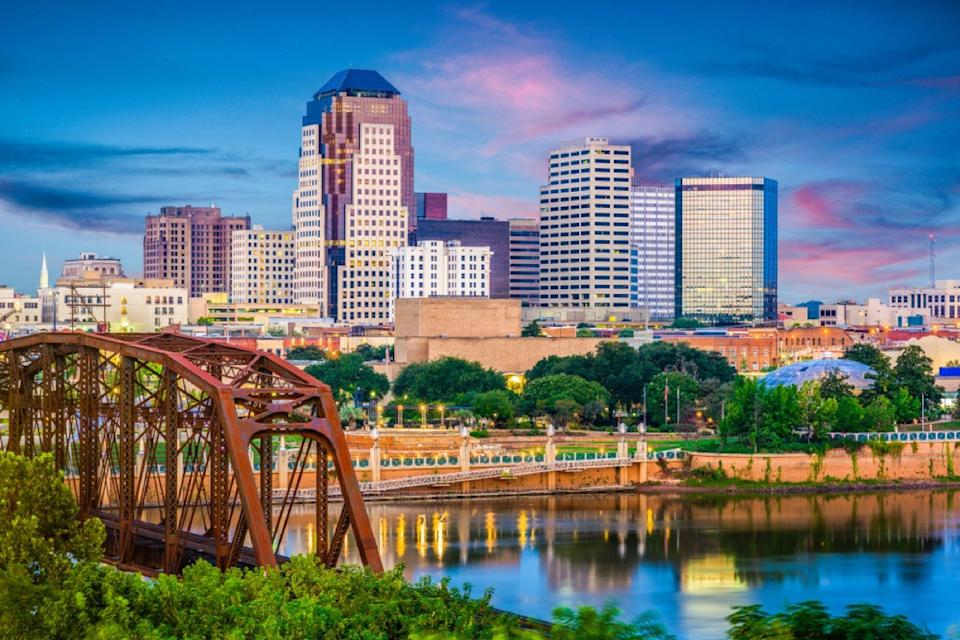 skyline of shreveport louisiana