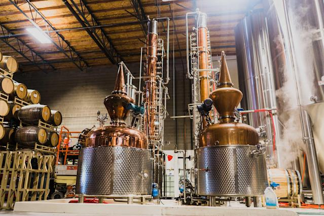 SanTan's distillery is now being repurposed for hand sanitizer. (Courtesy SanTan Brewing)