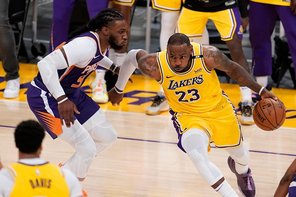 LeBron James, who got off to a slow start, picked things up with 16 second-half points to go along with nine total assists.