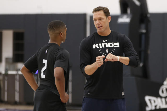 The Kings' investigation into new head coach Luke Walton is still reportedly ongoing. (AP Photo/Rich Pedroncelli)